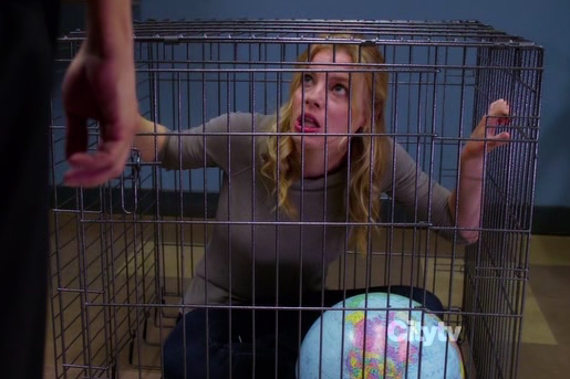 Britta in a cage Community